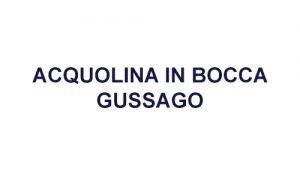 Acquolina in Bocca